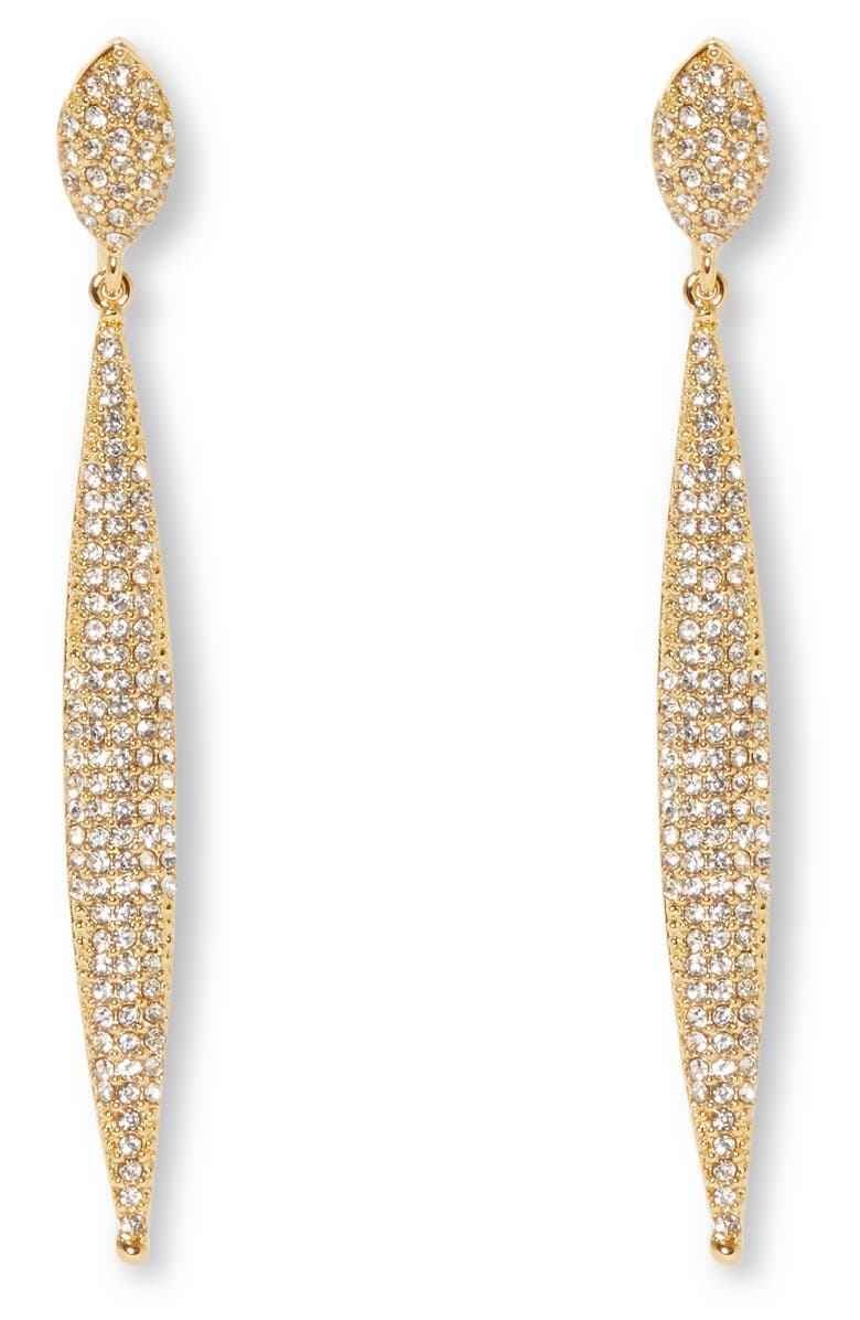 VINCE CAMUTO Crystal Drop Clip Earrings, Main, color, 710