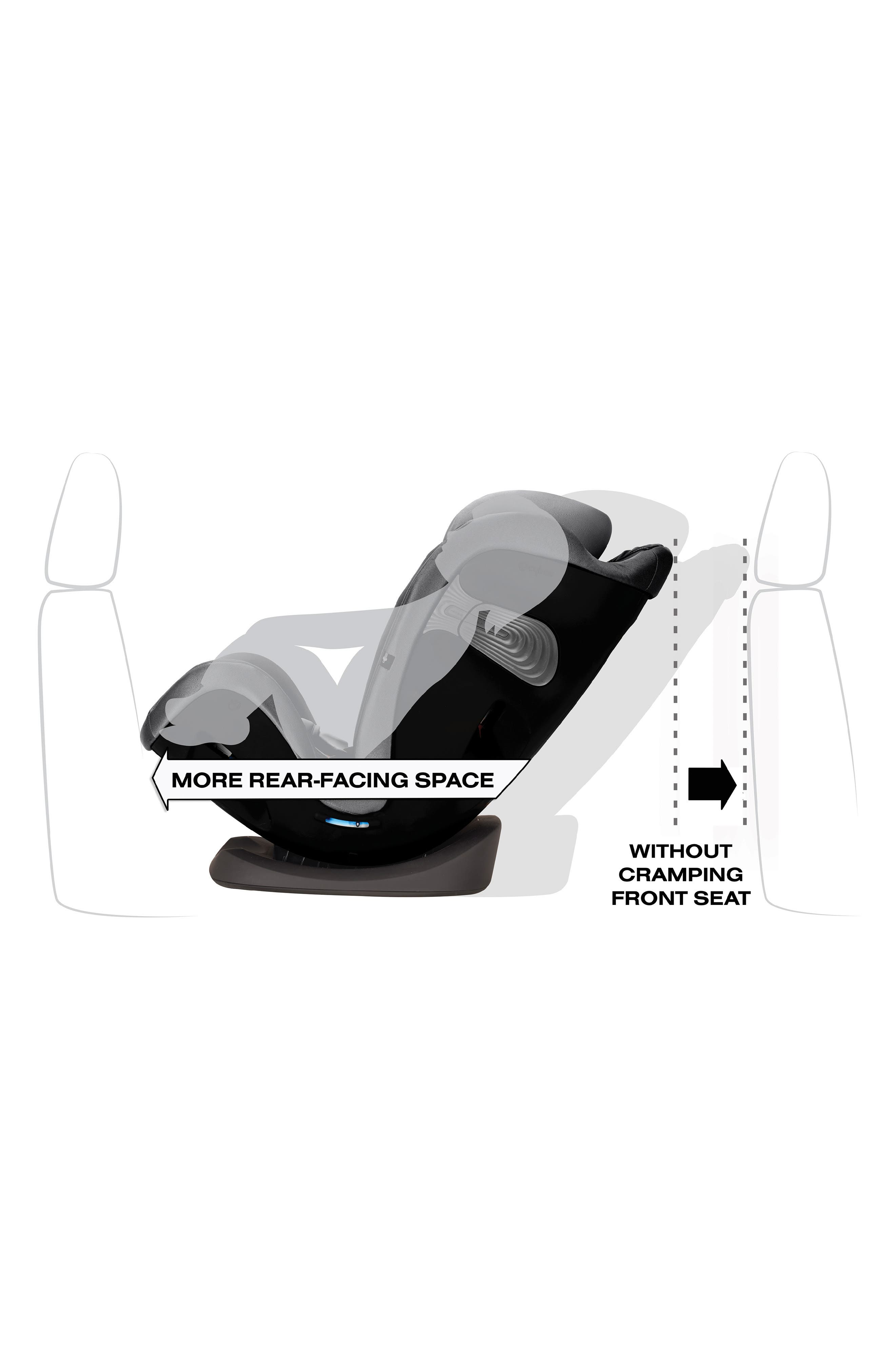 ,                             Eternis S SensorSafe<sup>™</sup> All-in-One Car Seat,                             Alternate thumbnail 2, color,                             BLACK/ GREY