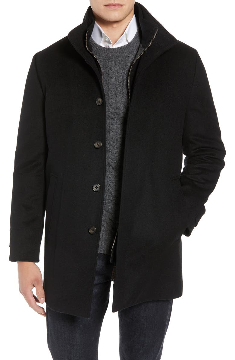 JOHN W. NORDSTROM<SUP>®</SUP> Hudson Wool Car Coat, Main, color, BLACK