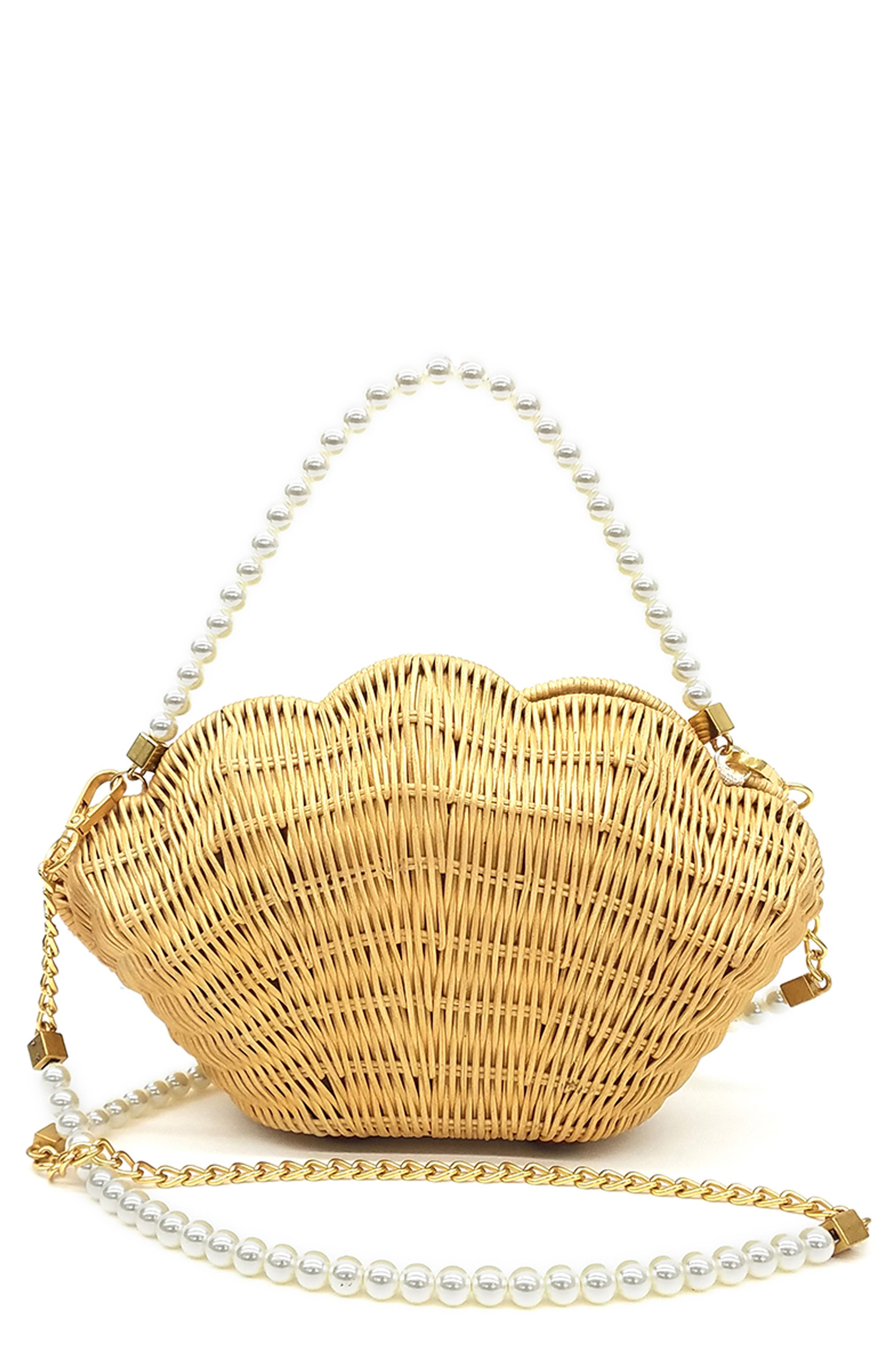 Shelly Woven Rattan Bag