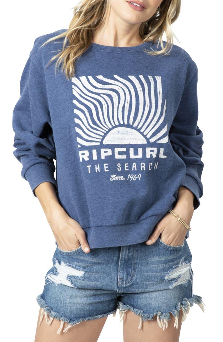 RIP CURL Sun Search Sweatshirt, Main, color, DARK BLUE