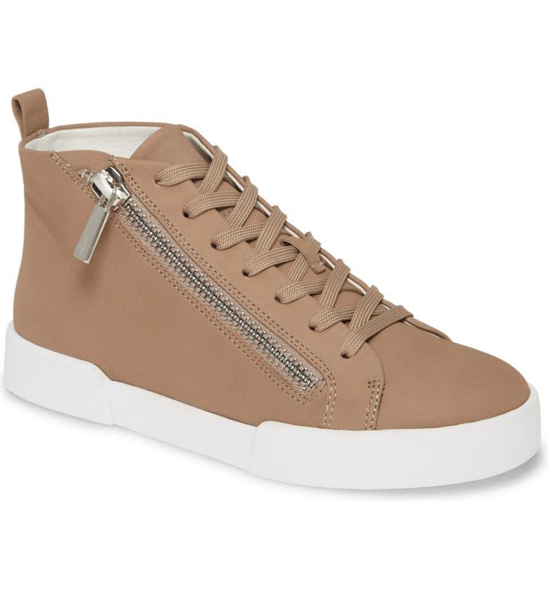 KENNETH COLE NEW YORK Kenneth Cole Tyler Zip Sneaker, Main, color, MUSHROOM NUBUCK LEATHER