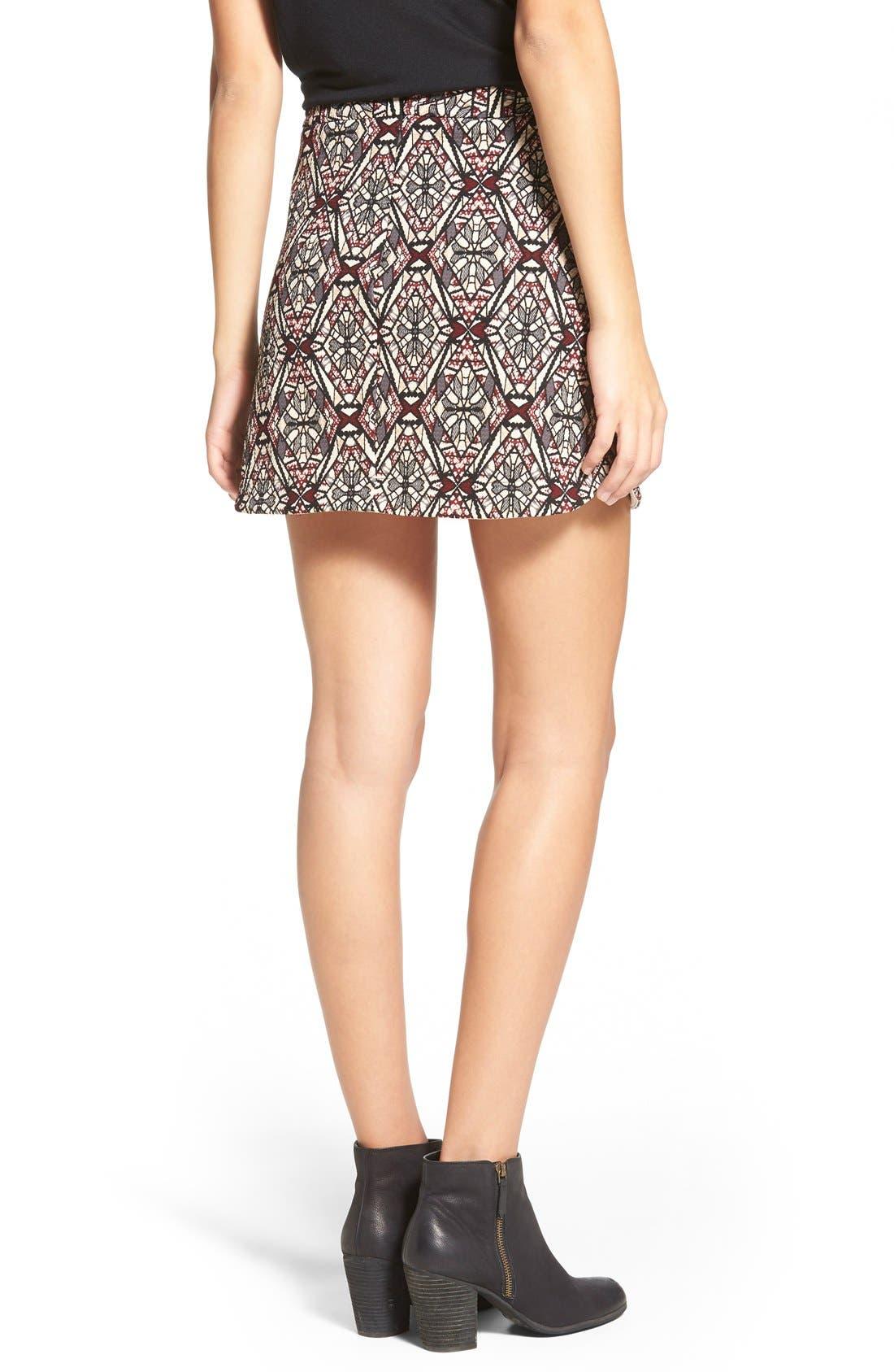 ,                             Knit Miniskirt,                             Alternate thumbnail 8, color,                             261
