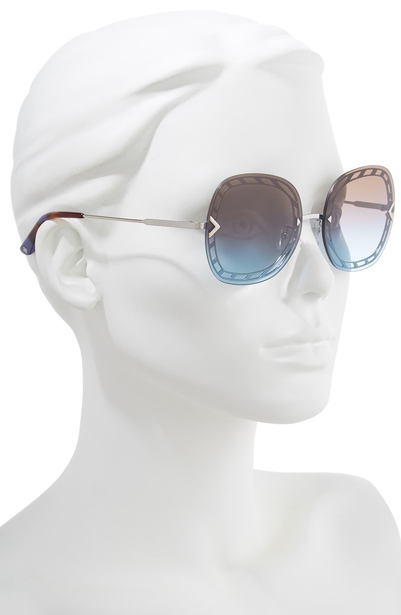 ,                             58mm Gradient Square Sunglasses,                             Alternate thumbnail 5, color,                             040