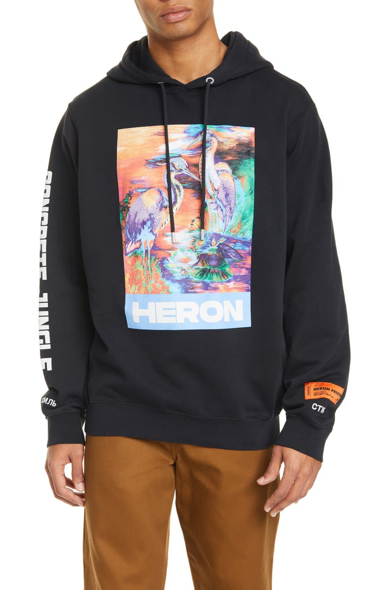HERON PRESTON Graphic Hoodie, Main, color, BLACK MULTI