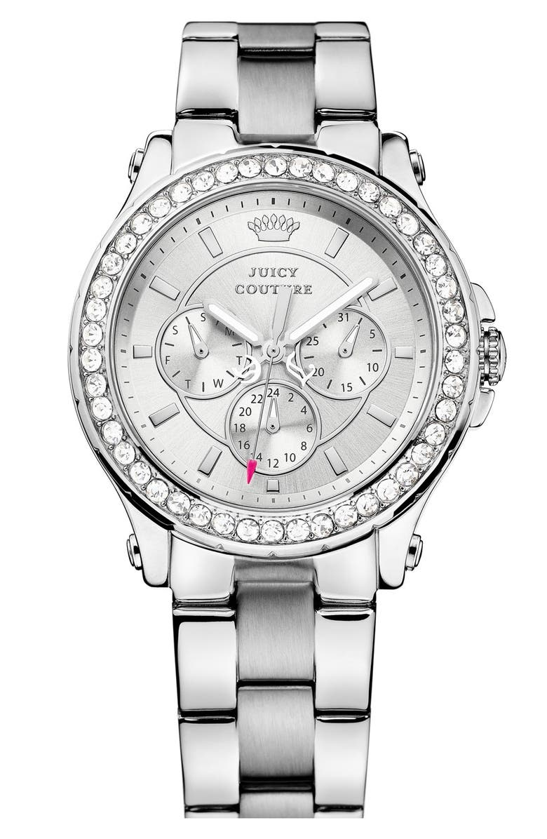 JUICY COUTURE 'Pedigree' Multifunction Bracelet Watch, 38mm, Main, color, 040