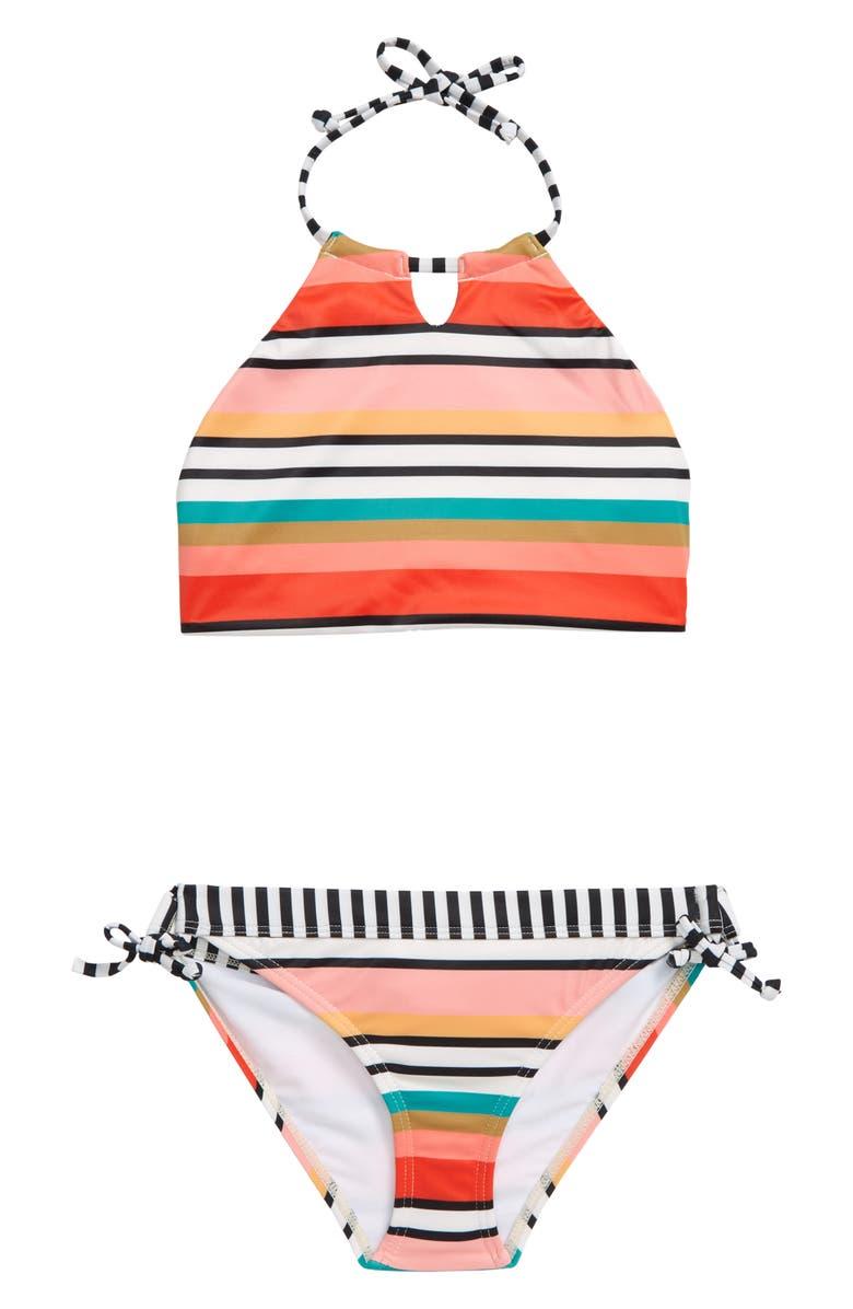 BILLABONG Rad Wave Reversible Two-Piece Swimsuit, Main, color, MUL-MULTI