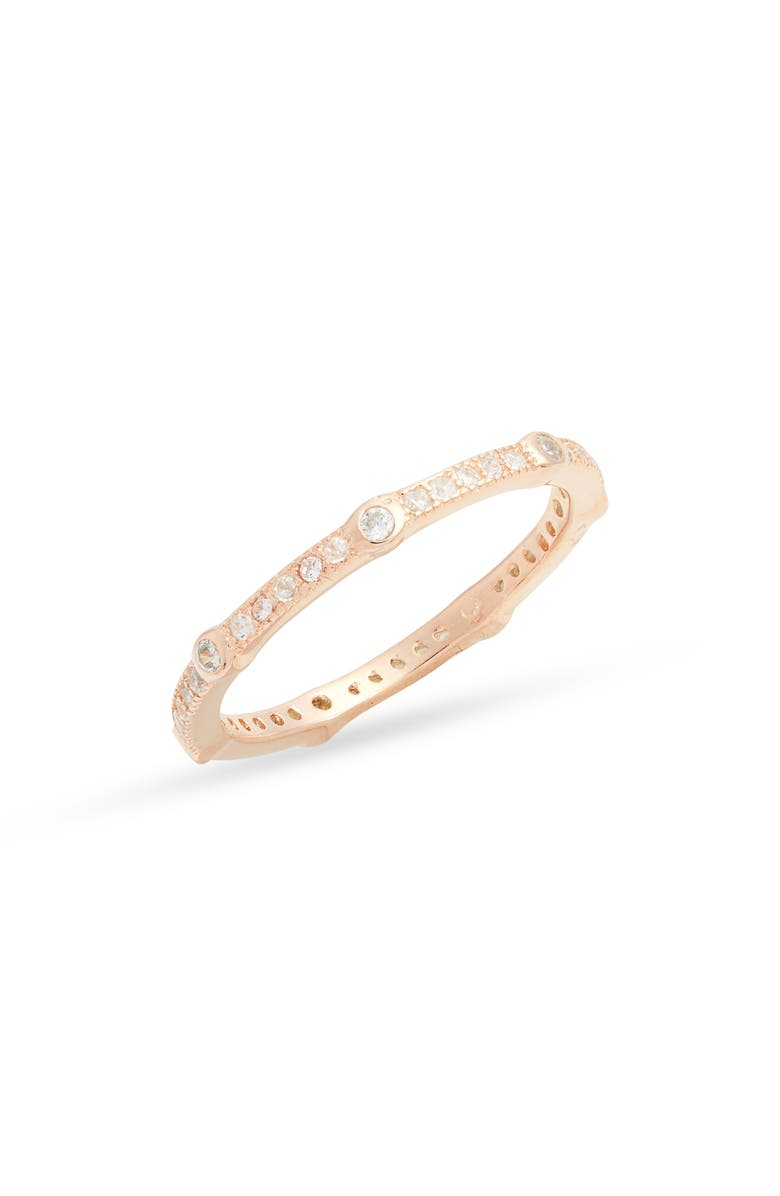 KAREN LONDON Allure The Flash Cubic Zirconia Ring, Main, color, GOLD