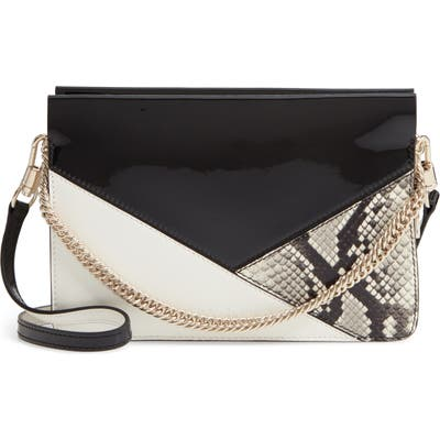 Givenchy Cross 3 Leather Crossbody Bag - Black