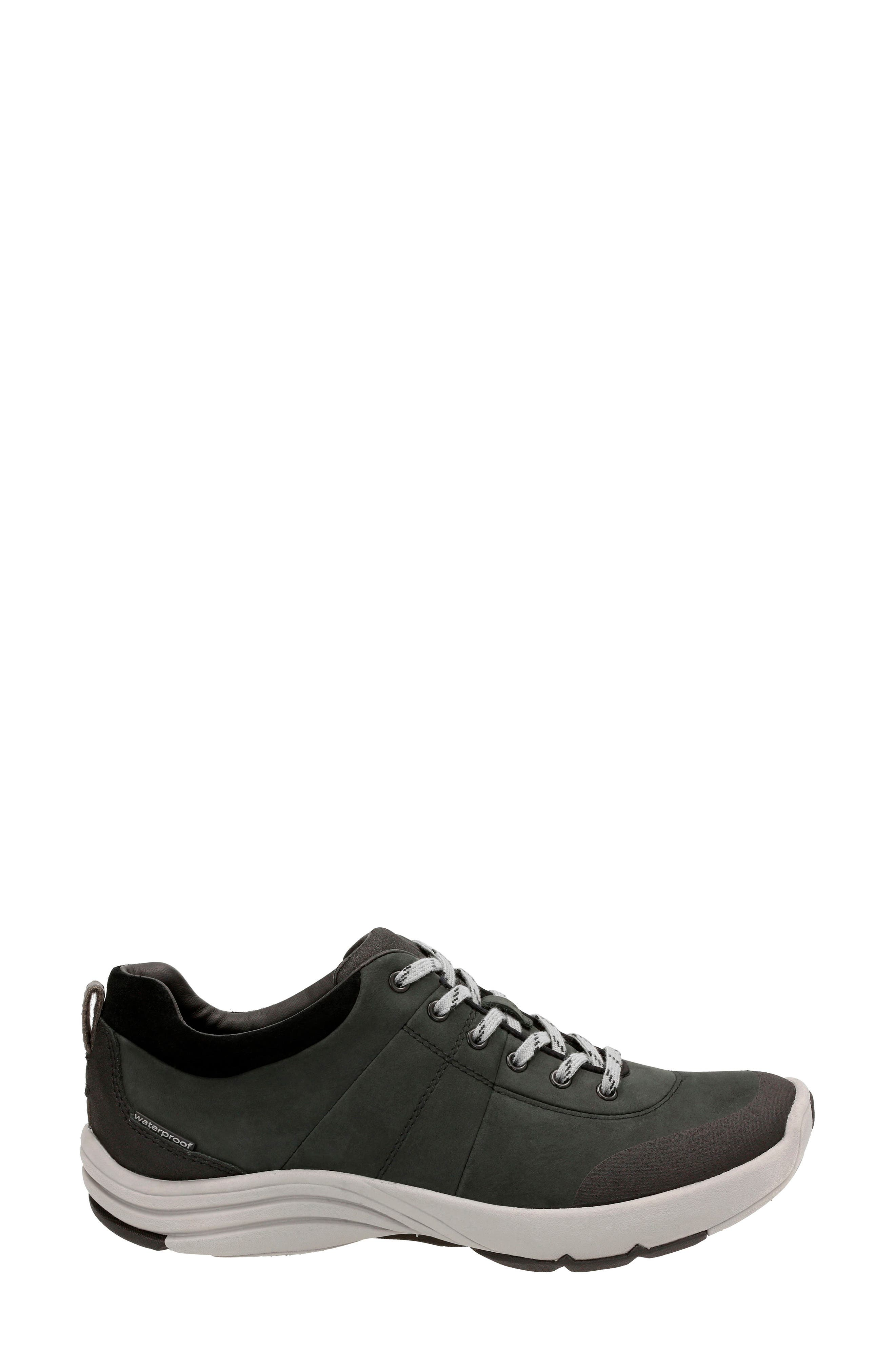 ,                             Wave Andes Sneaker,                             Alternate thumbnail 3, color,                             BLACK NUBUCK LEATHER