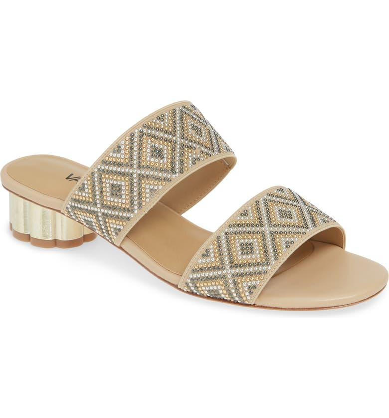 VANELI Embellished Slide Sandal, Main, color, ECRU LEATHER