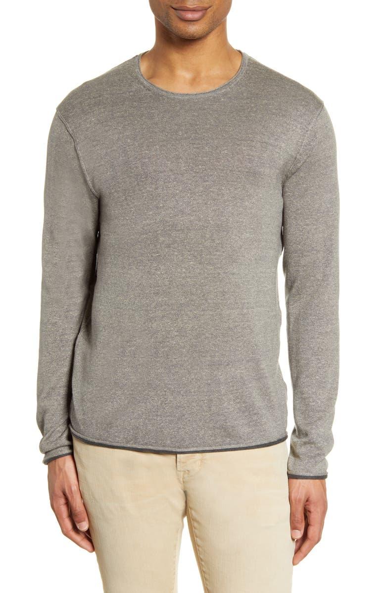RAG & BONE Trent Crewneck Wool Blend Sweater, Main, color, GREY