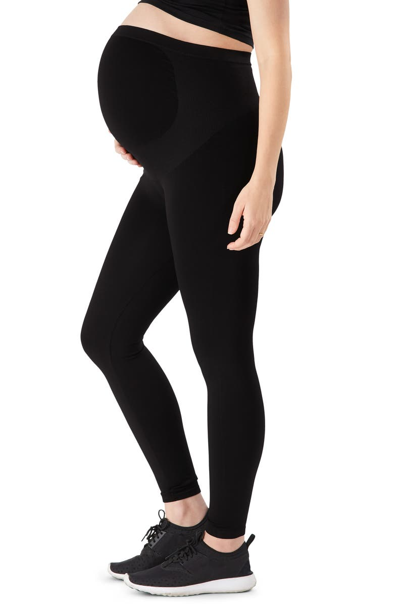 BELLY BANDIT<SUP>®</SUP> Bump Support<sup>™</sup> Maternity Leggings, Main, color, BLACK