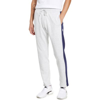 Reigning Champ Stripe French Terry Sweatpants, Beige