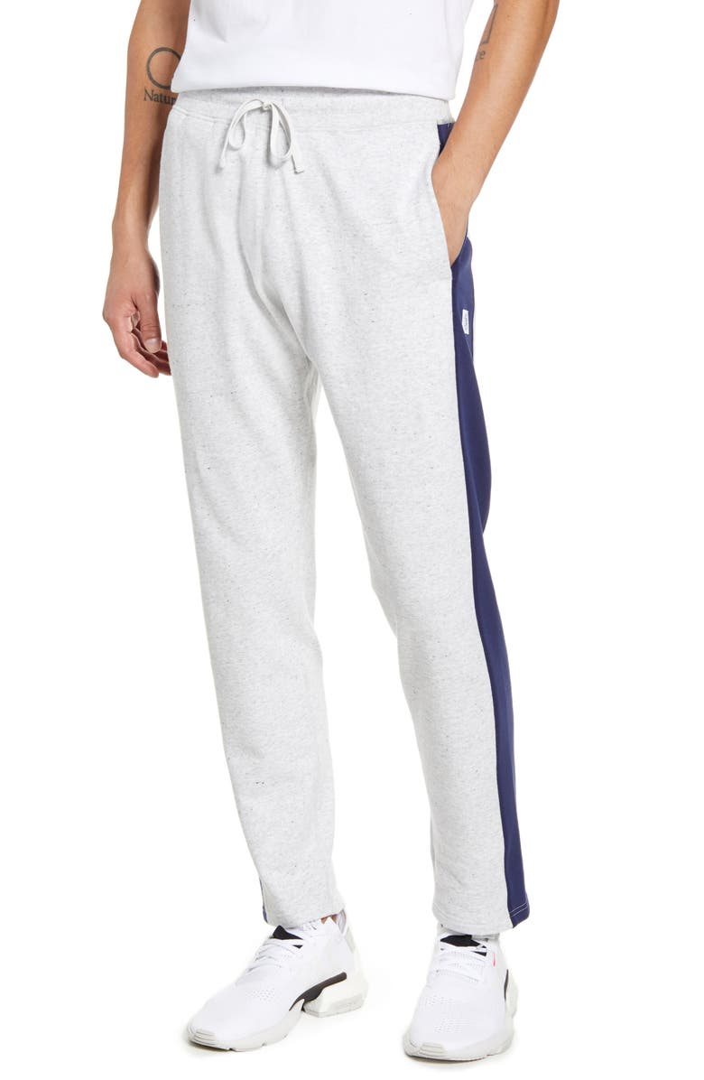 REIGNING CHAMP Stripe French Terry Sweatpants, Main, color, ASH
