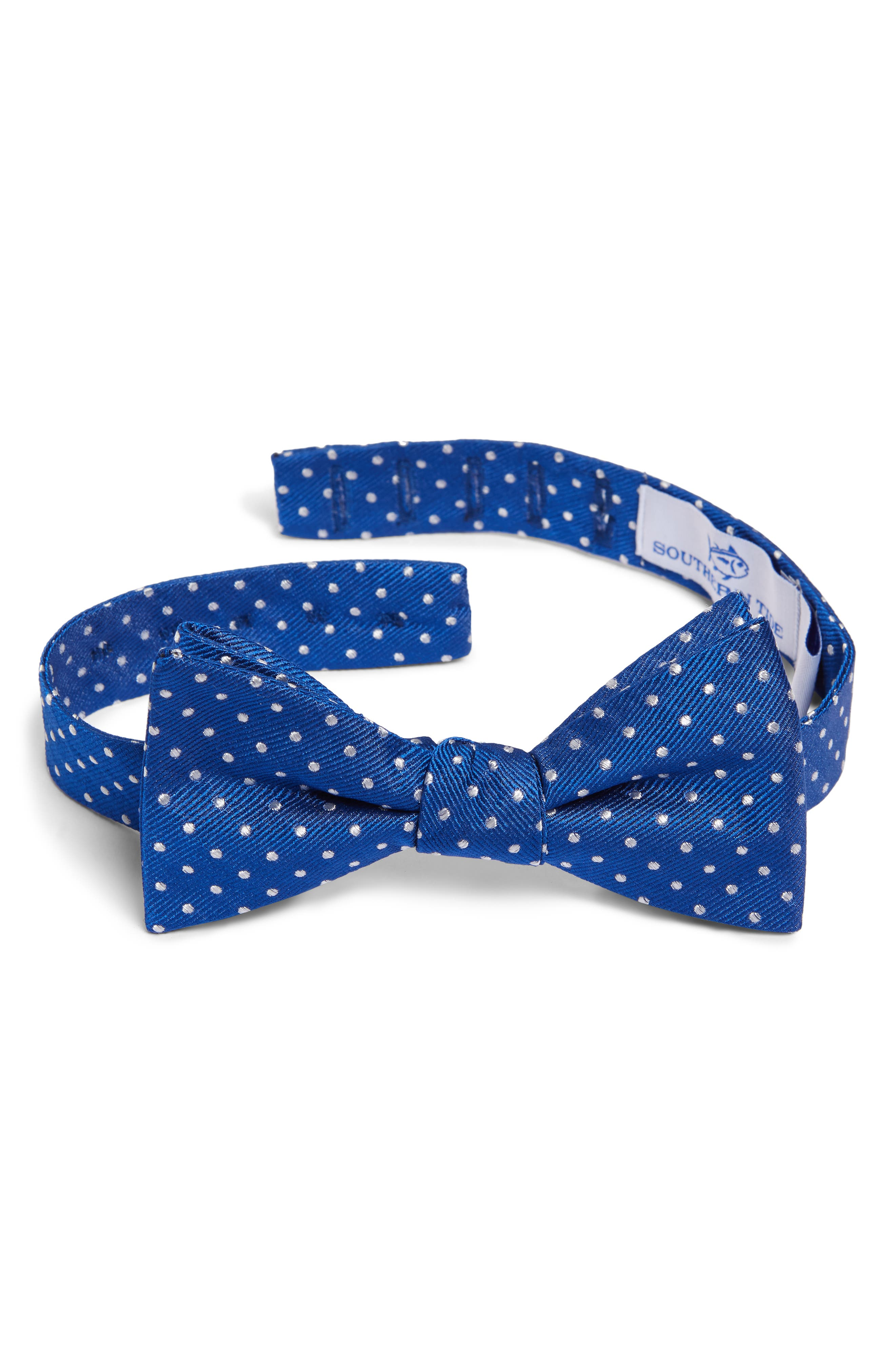 1940s Mens Ties | Wide Ties & Painted Ties Mens Southern Tide Portside Dot Silk Bow Tie Size Regular - Blue $39.75 AT vintagedancer.com