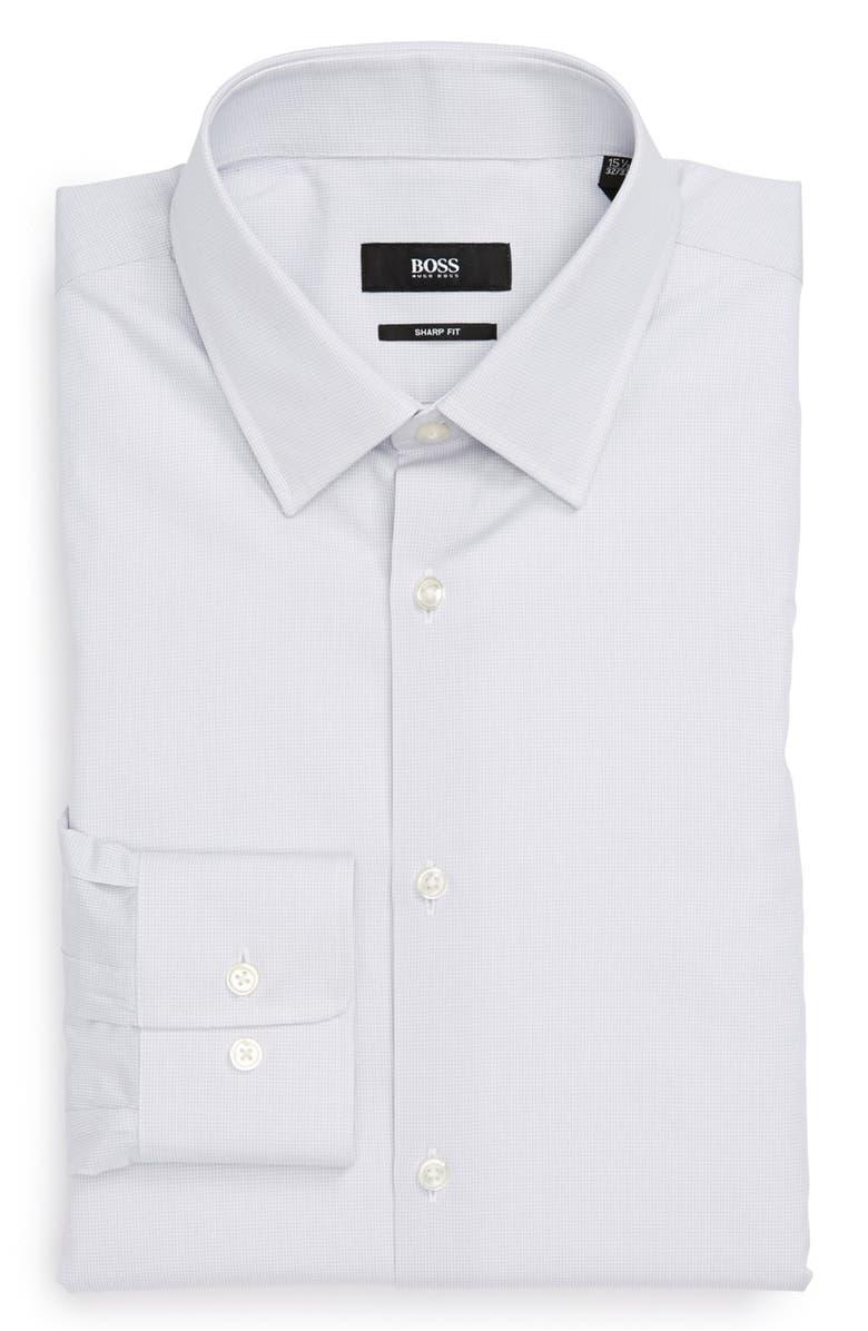 BOSS 'Marlow' Sharp Fit Dress Shirt, Main, color, 030
