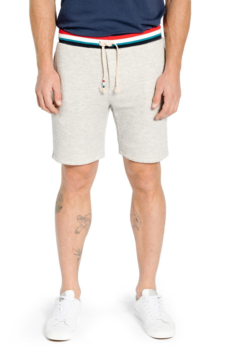SOL ANGELES Sol Flag Roma Athletic Shorts, Main, color, HEATHER