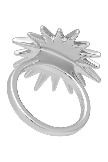 Image of Swarovski Balthus Rhodium Plated Swarovski Crystal Starburst Ring