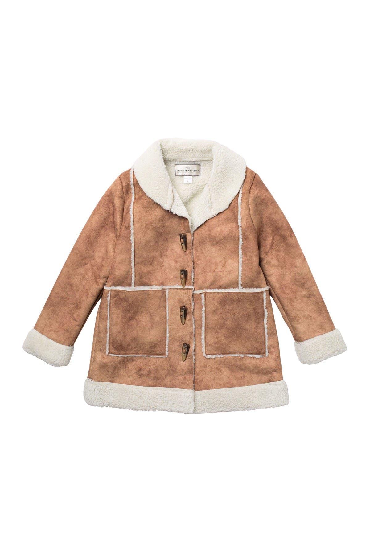 Image of WIDGEON Faux Fur Patch Coat