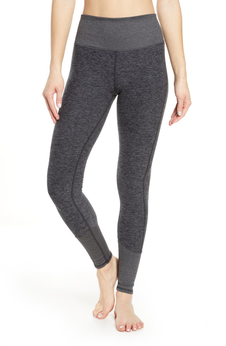 ALO High Waist Lounge Leggings, Main, color, DARK HEATHER GREY