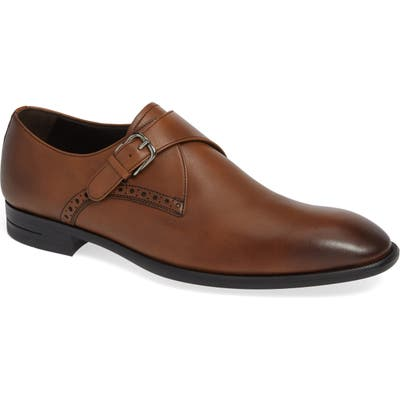 Ermenegildo Zegna Single Strap Monk Shoe, Brown