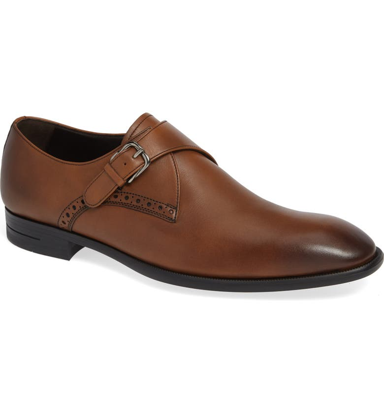 ERMENEGILDO ZEGNA Single Strap Monk Shoe, Main, color, VICUNA BROWN