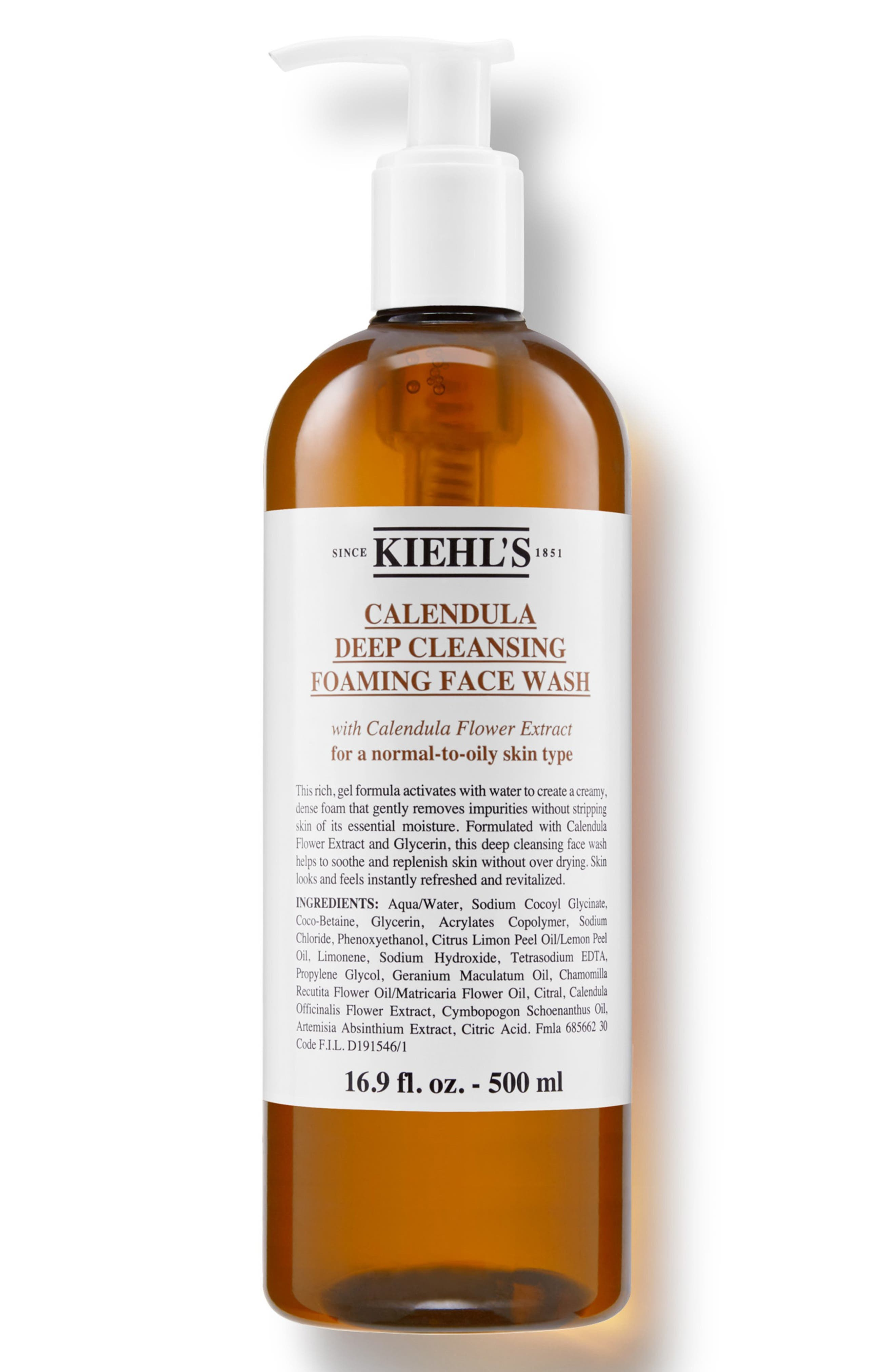 1851 Calendula Deep Cleansing Foaming Face Wash For Normal-To-Oily Skin