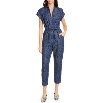 La Vie Rebecca Taylor Faune Denim Jumpsuit, Blue