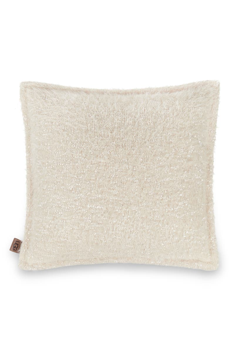 UGG<SUP>®</SUP> Stilson Knit Pillow, Main, color, SNOW