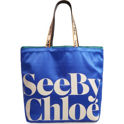 See By Chloe Live Satin Tote - Blue