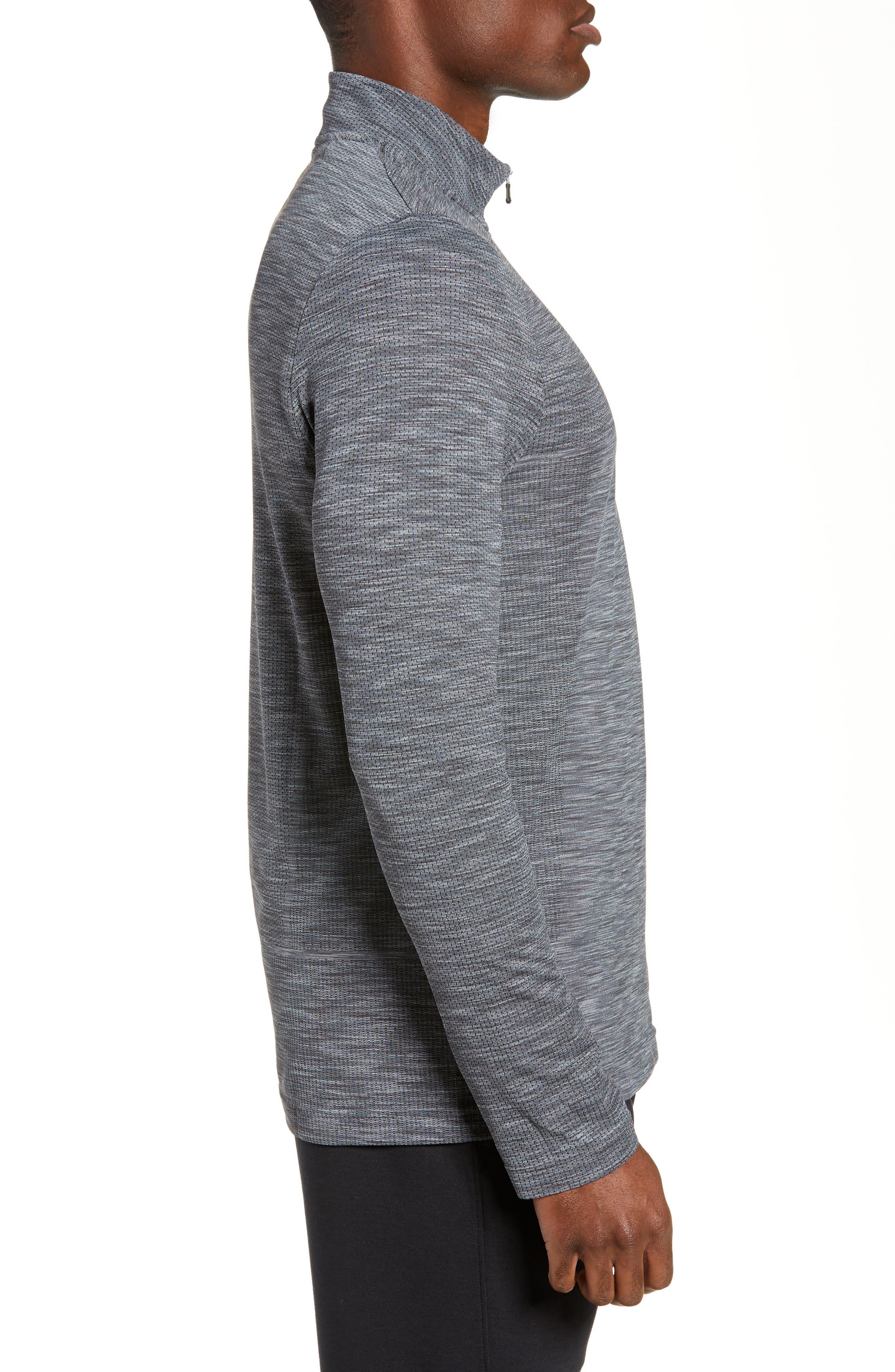 ,                             Siphon Regular Fit Half-Zip Pullover,                             Alternate thumbnail 3, color,                             STEEL
