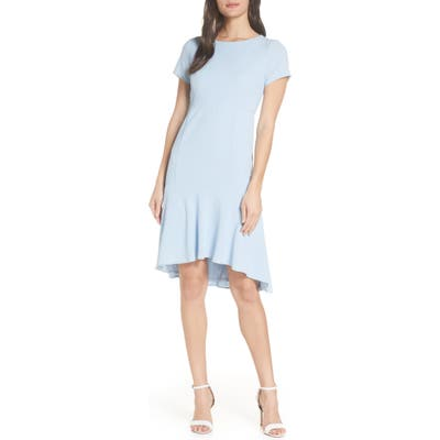 Avec Les Filles High/low Sheath Dress, Blue