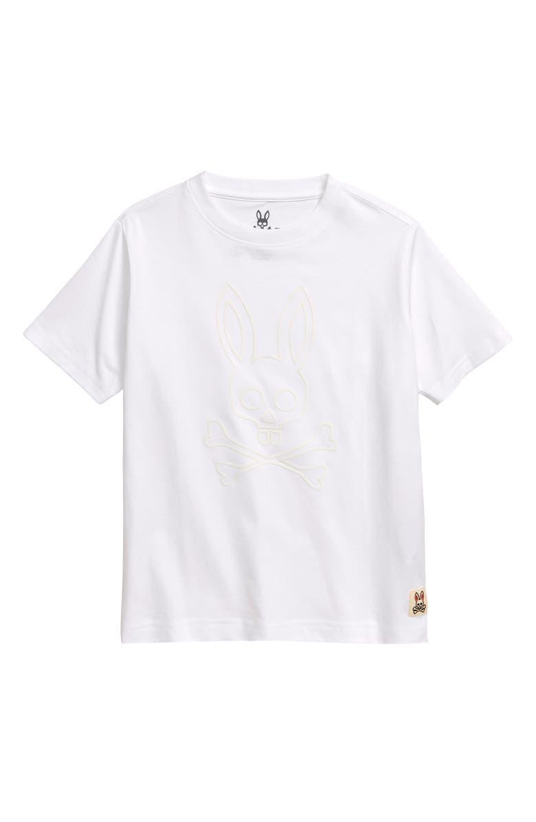 PSYCHO BUNNY Westcott Graphic T-Shirt, Main, color, WHITE