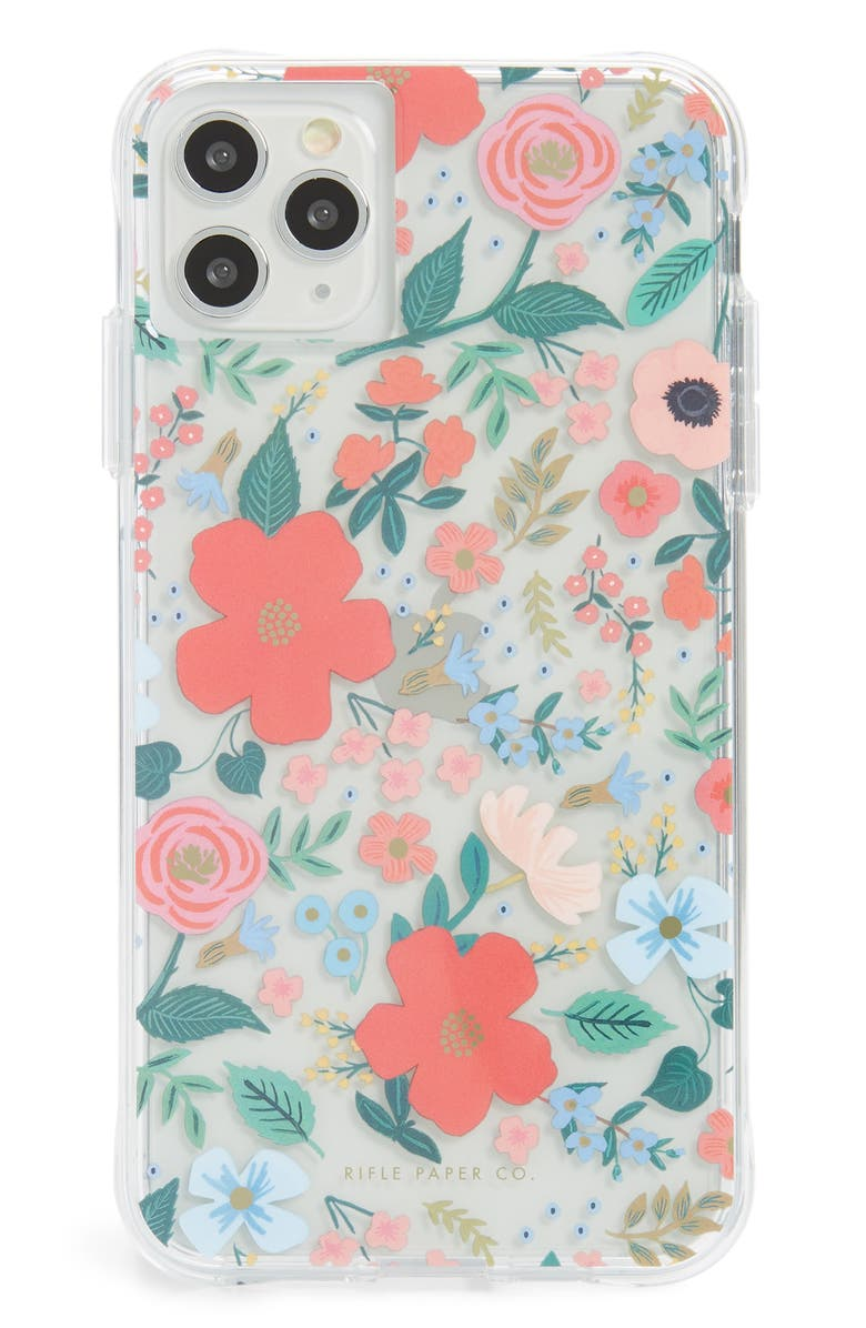 CASE-MATE<SUP>®</SUP> x Rifle Paper Co. Wild Rose iPhone 11, 11 Pro & 11 Pro Max Case, Main, color, 600