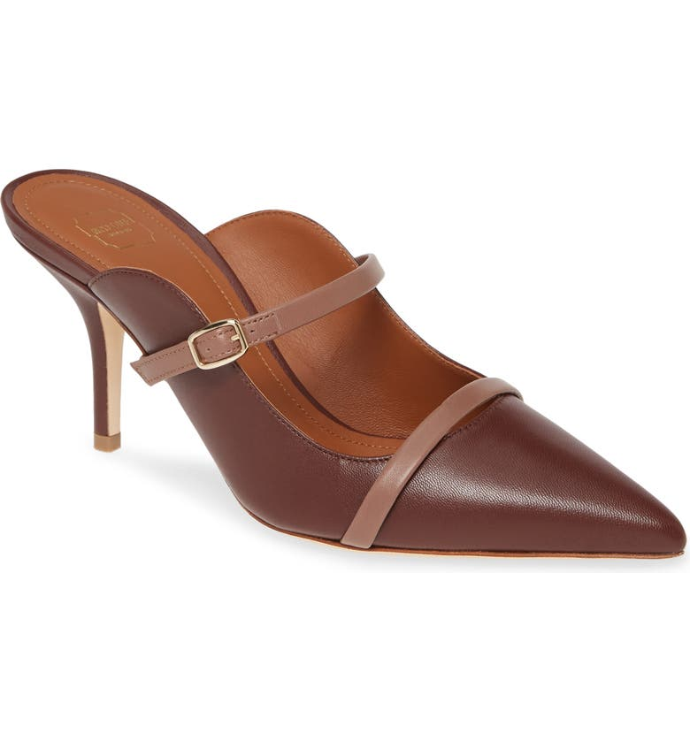 MALONE SOULIERS Melody Double Band Mule, Main, color, BROWN
