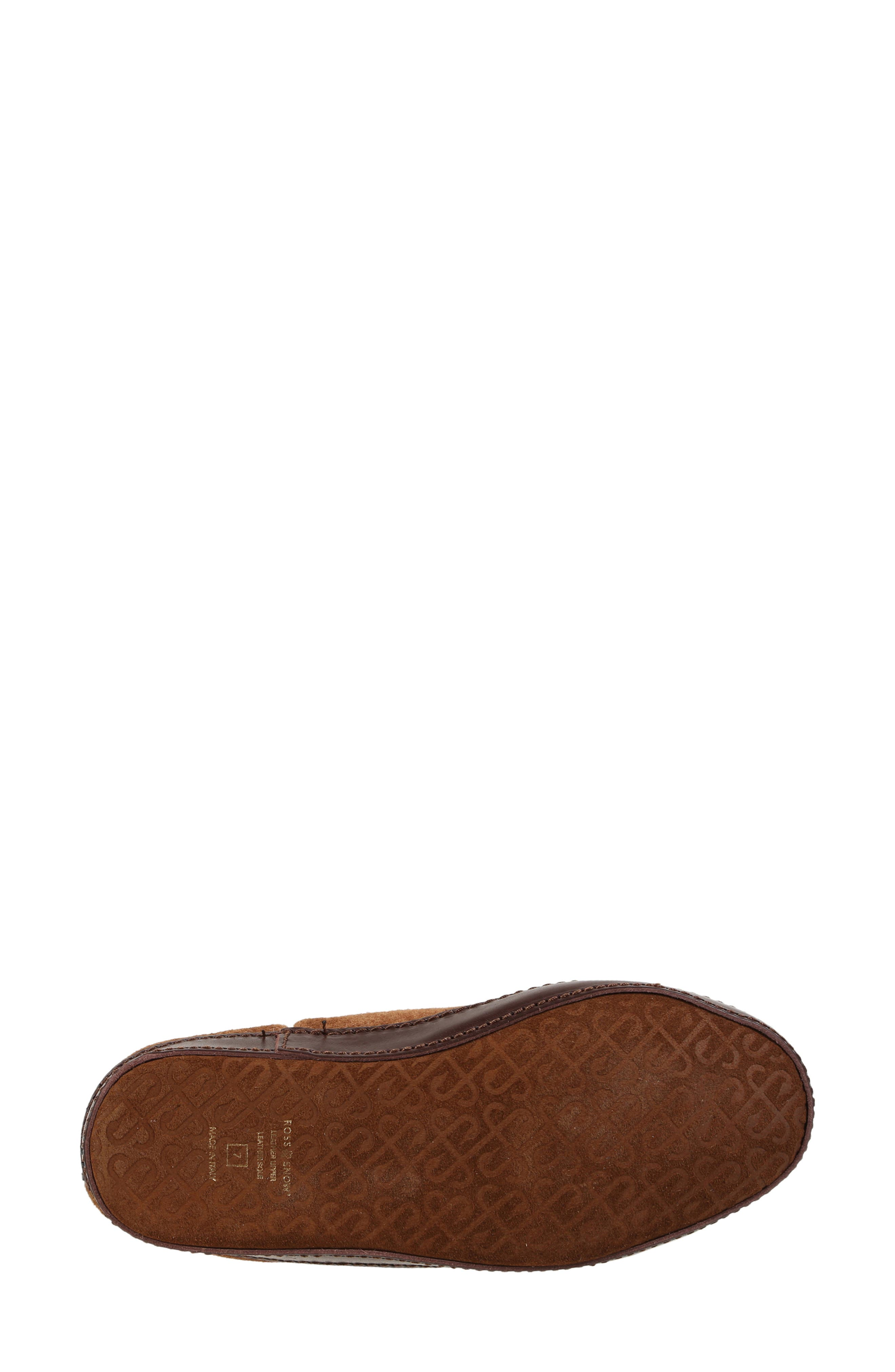 ,                             Gemma Genuine Shearling Slipper Bootie,                             Alternate thumbnail 5, color,                             STONE WASHED COGNAC