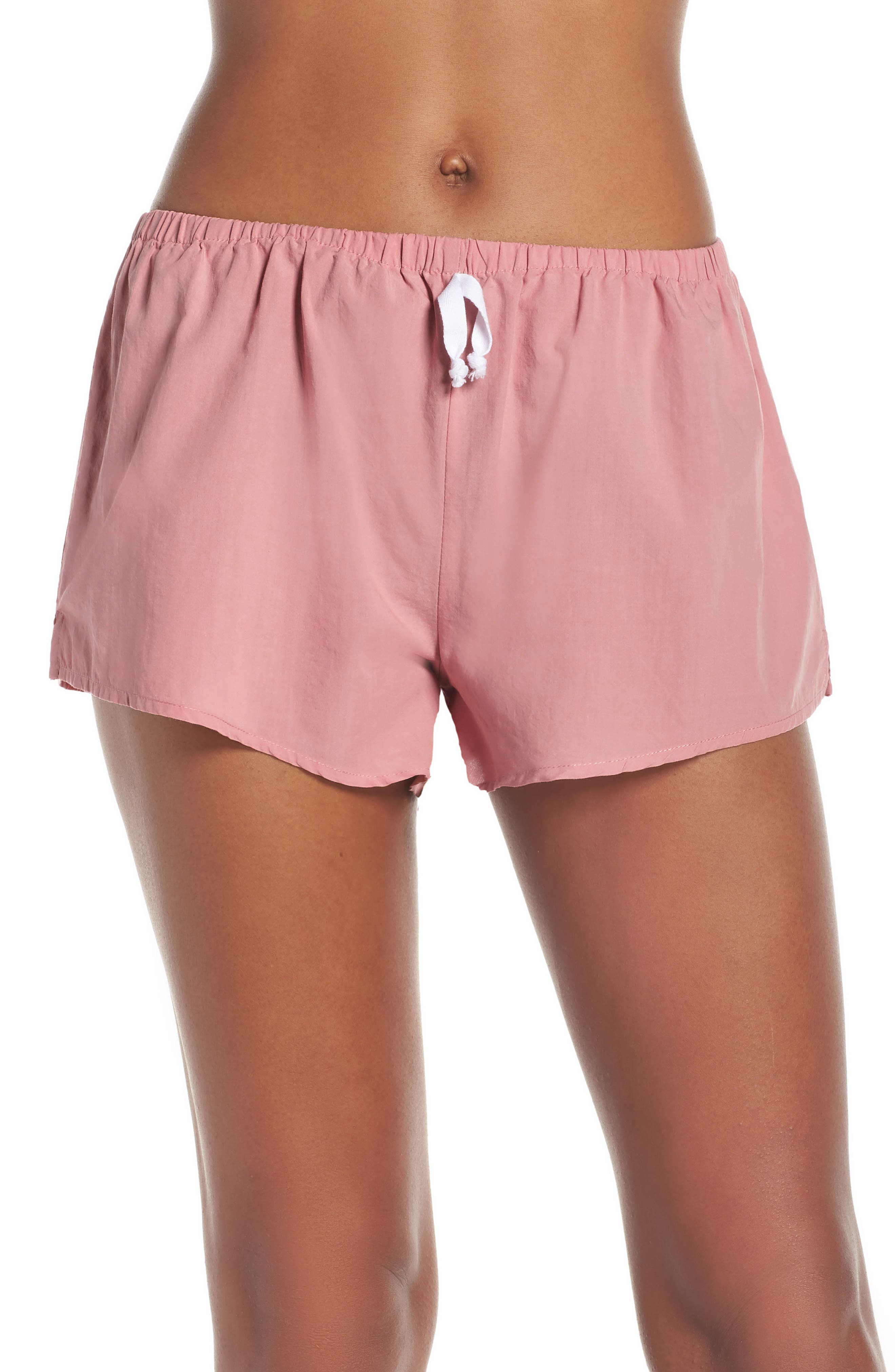 Papinelle Whale Beach Pajama Shorts, Pink