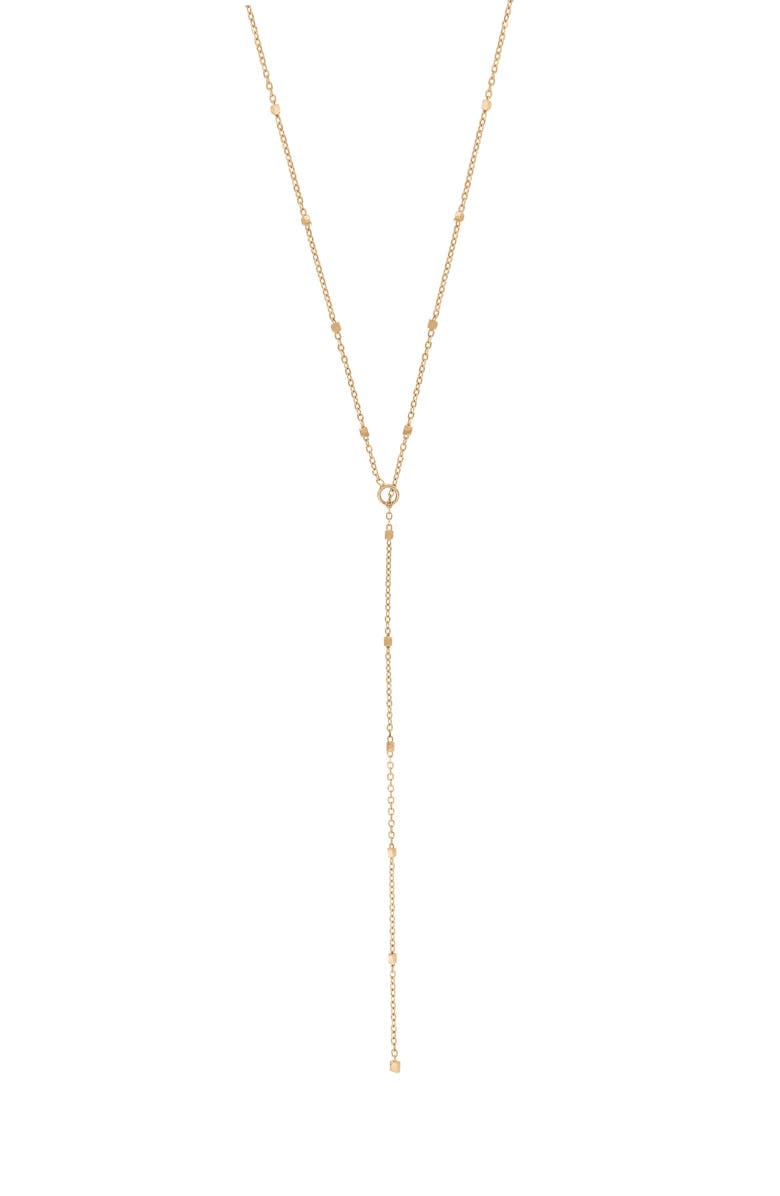 BONY LEVY Lariat Necklace, Main, color, ROSE GOLD