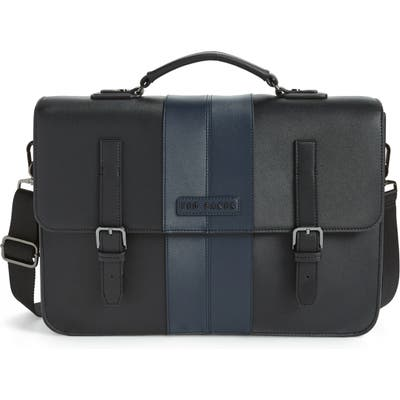 Ted Baker London Faux Leather Satchel - Black