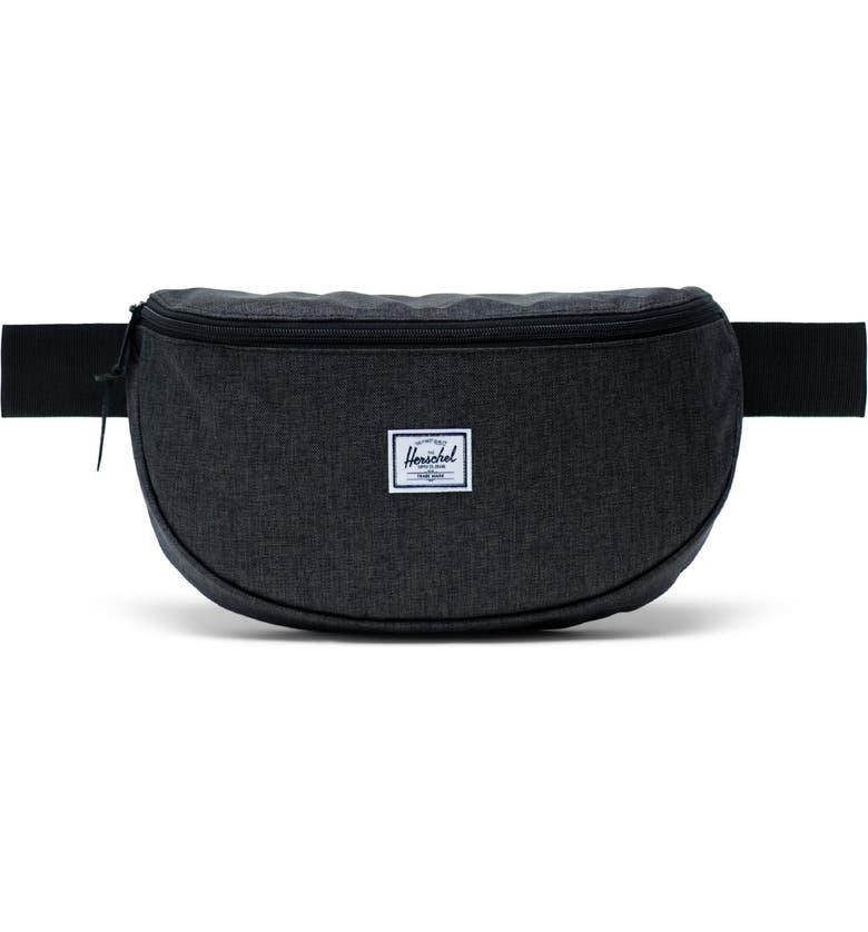 HERSCHEL SUPPLY CO. Sixteen Belt Bag, Main, color, BLACK CROSSHATCH