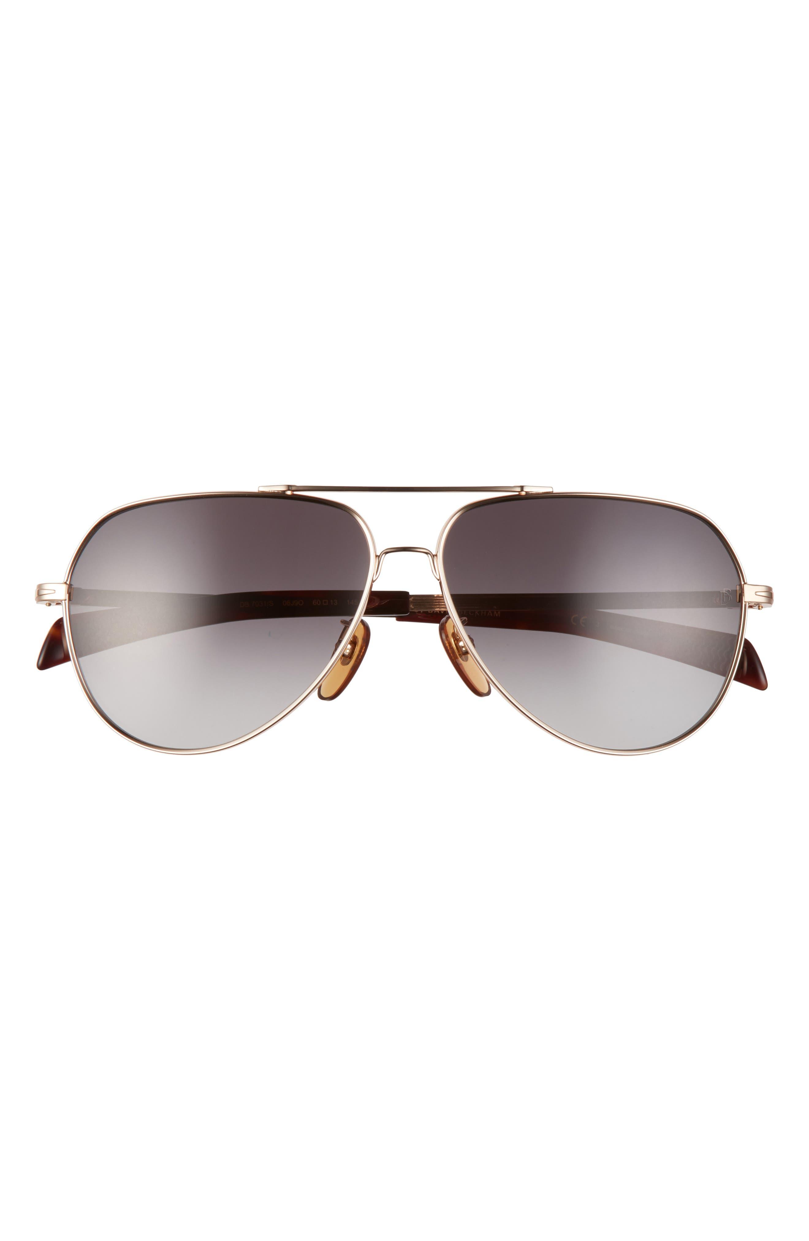 Men's Eyewear By David Beckham 60mm Gradient Aviator Sunglasses