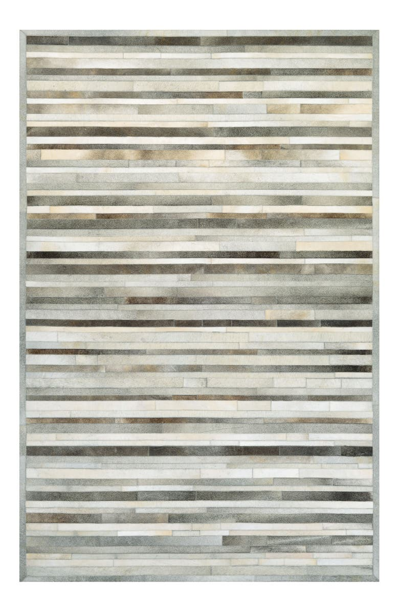 COURISTAN Chalet Collection Genuine Calf Hair Plank Rug, Main, color, 020