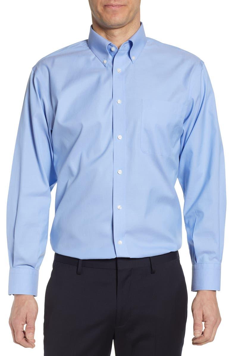 NORDSTROM Smartcare<sup>™</sup> Classic Fit Dress Shirt, Main, color, BLUE HYDRANGEA