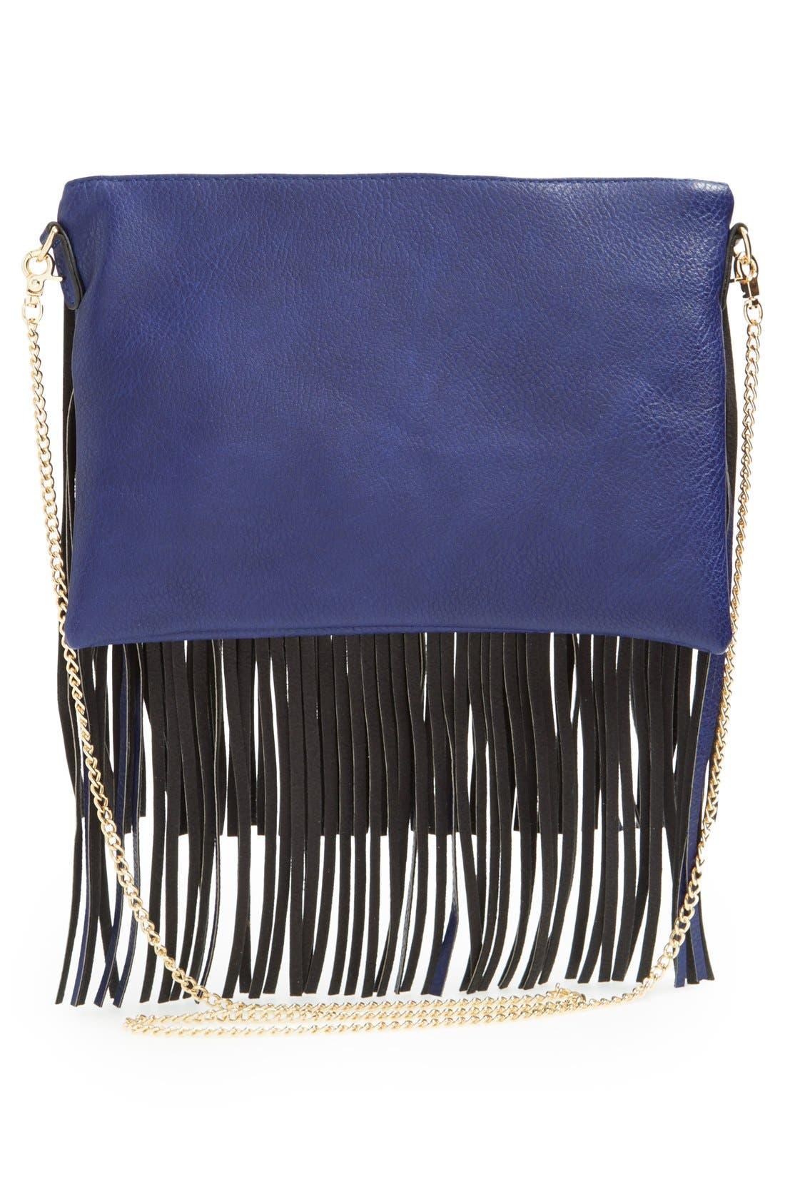 ,                             'Rose' Fringe Faux Leather Convertible Crossbody Bag,                             Alternate thumbnail 20, color,                             410