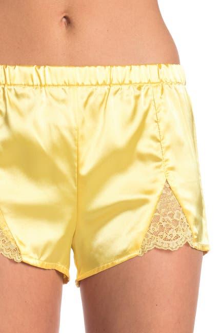 Image of COZY ROZY Madisson Lace Trim Satin Camisole & Shorts 2-Piece Pajama Set