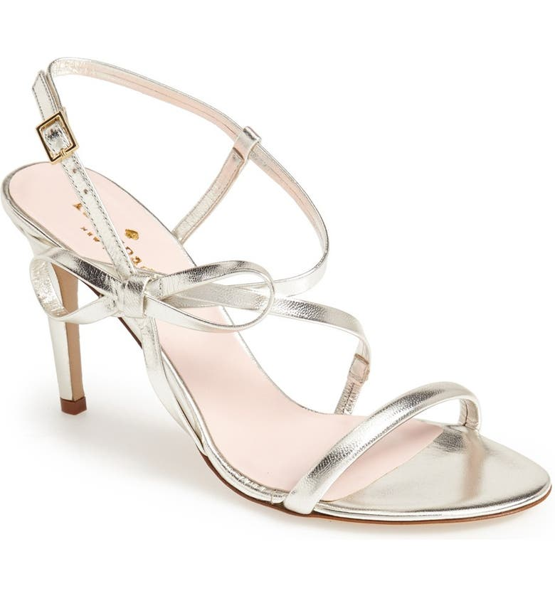 KATE SPADE NEW YORK 'ivan' metallic sandal, Main, color, 041