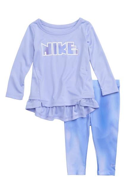 Image of Nike Unicorn Dry Peplum Tee & Leggings Set