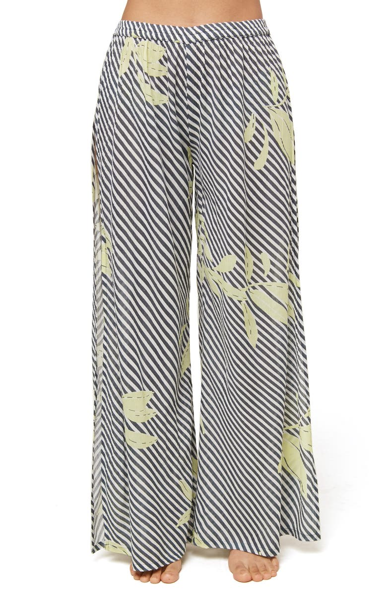 O'NEILL Hensley Print Cover-Up Pants, Main, color, DEEP TEAL