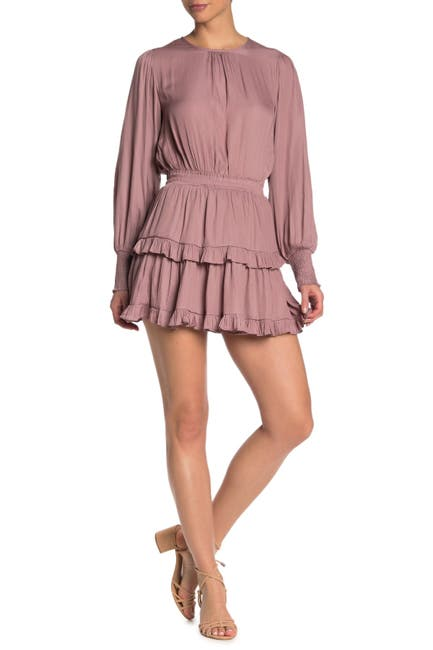 Image of Do + Be Tiered Smocked Cuff Mini Dress